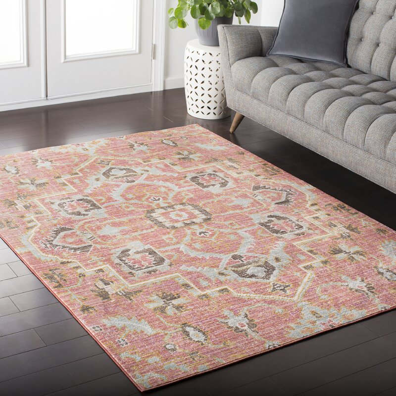 Fields Pink Area Rug & Reviews | Joss & Main