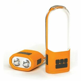 Wojtowicz Orange/White Battery Powered LED Outdoor Table Lamp By Sol 72 Outdoor