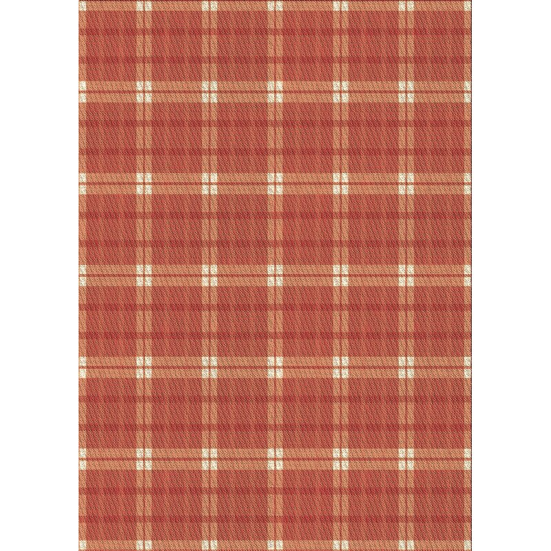 East Urban Home Plaid Wool Red Area Rug Wayfair Ca