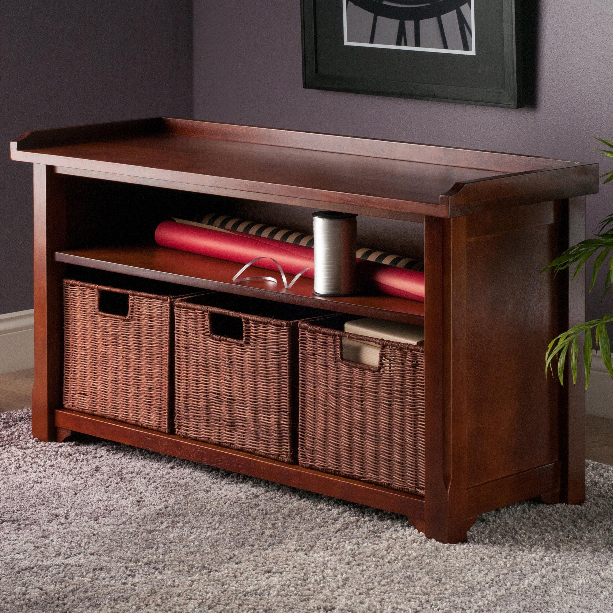 Red Barrel Studio Alasan Wood Storage Bench Reviews Wayfair