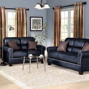 Black Leather Living Room Sets You\'ll Love | Wayfair