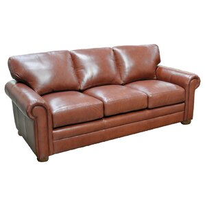 Georgia Leather Sofa by Omnia Leather