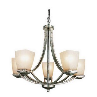 Calypso 5-Light Shaded Chandelier by Winston Porter