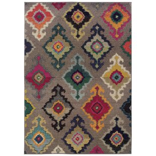 Terrell Tribal Gray Area Rug by Bungalow Rose