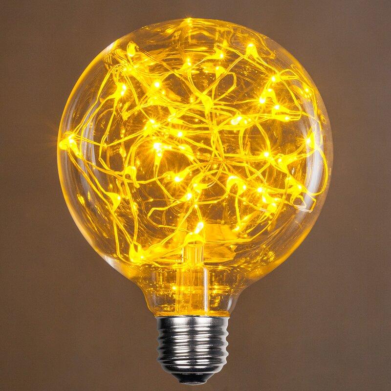 1 Watt Equivalent, G95 LED, Non-Dimmable Light Bulb E26/Medium (Standard)  Base