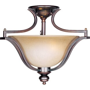 Mansfield 3-Light Semi-Flush Mount by Charlton Home