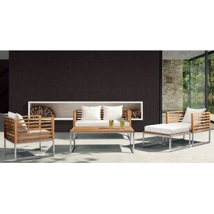 Balerna 5 Piece Teak Sofa Set with Cushions