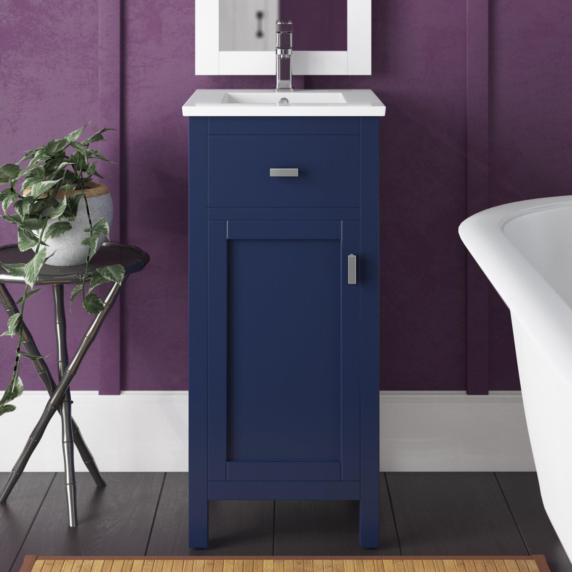 Breakwater Bay Alessandro 16 Single Bathroom Vanity Set Reviews Wayfair