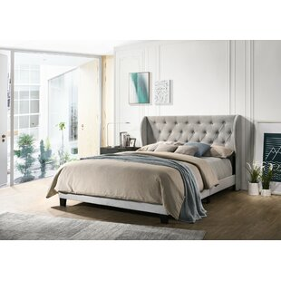 Where buy  Northborough Queen Upholstered Panel Bed by Charlton Home Reviews (2019) & Buyer's Guide