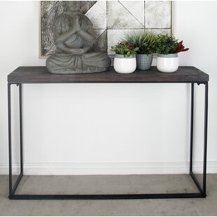 Cole & Grey Metal and Wood Console Table
