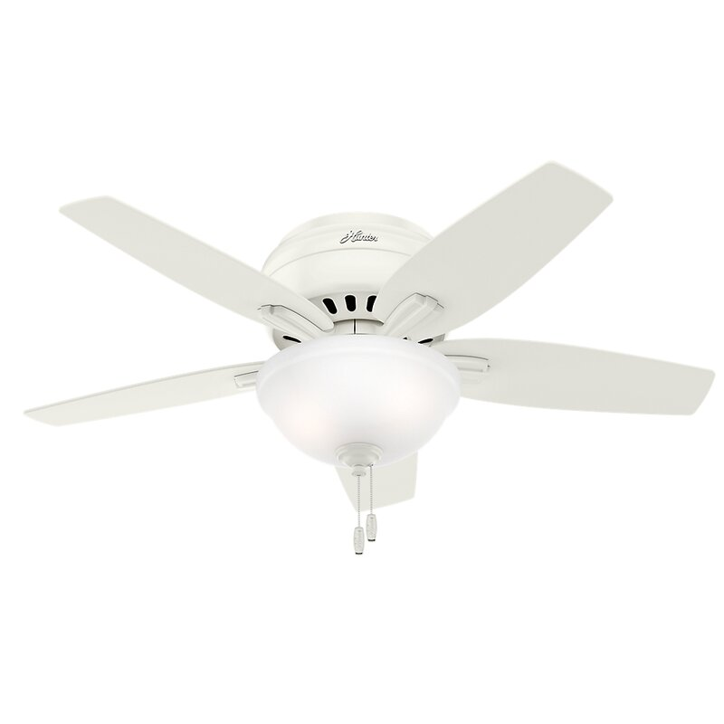 Hunter Fan 42 Newsome Low Profile 5 Blade Ceiling Fan Light Kit