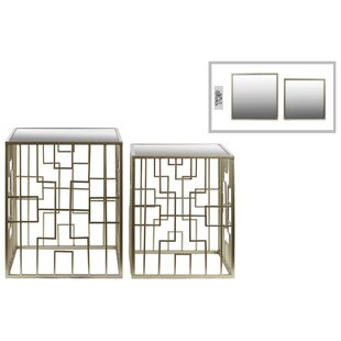 Metal Square 2 Piece Nesting Tables