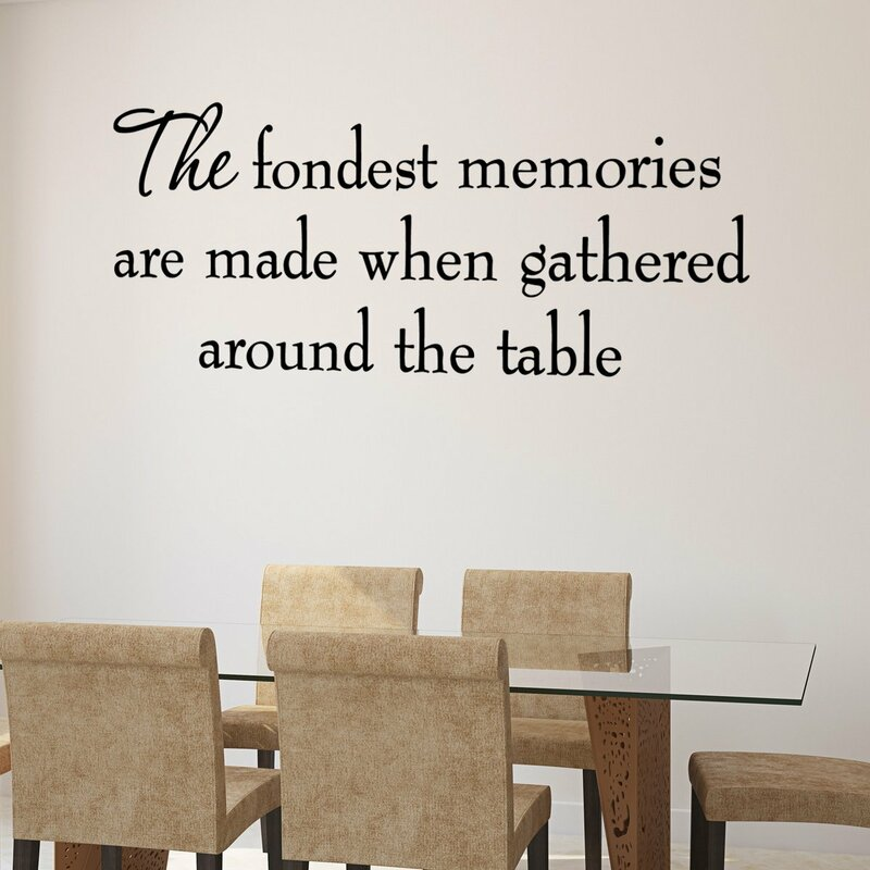 Fondest Memories Made Around Table Bedroom Home Decor Wall Decal Sticker Black