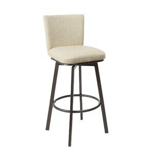 Ballance Upholstered Adjustable Height Swivel Bar Stool by Winston Porter