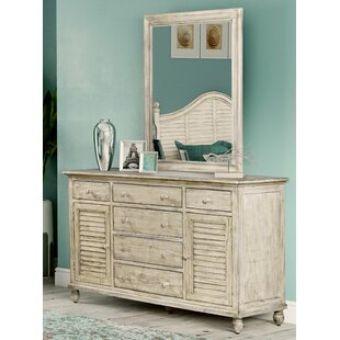 Haylee 6 Drawer Combo Dresser with Mirror