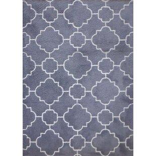 Order Gagliano Shag Hand-Tufted Charcoal Gray/White Indoor Area Rug ByBrayden Studio