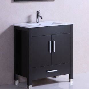 Modern Freestanding 30 inch  Single Bathroom Vanity Set