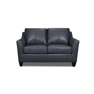 Shop Basham Leather Loveseat by Ebern Designs