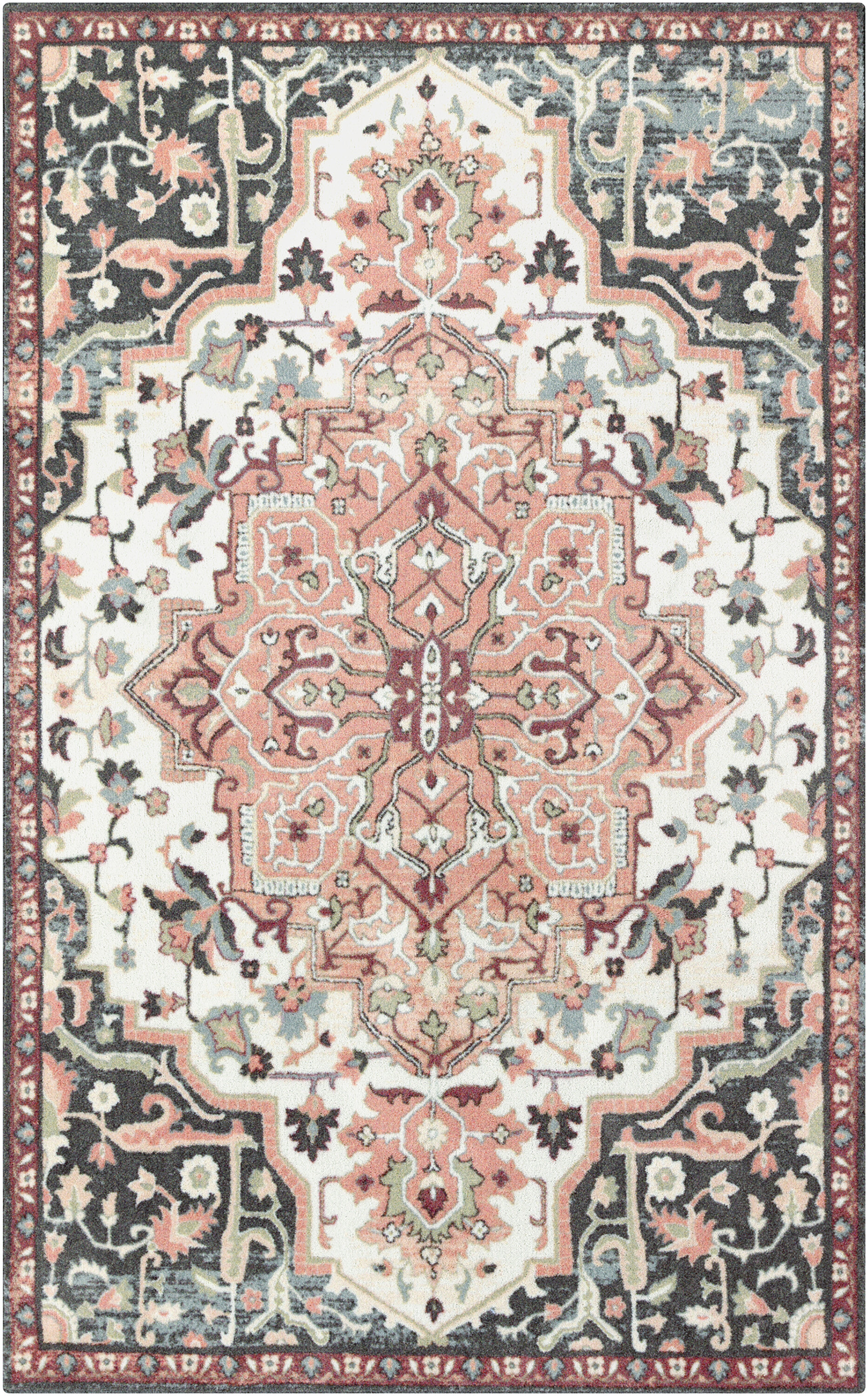 Bungalow Rose Dario Peach Pink Area Rug Reviews Wayfair