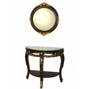 Three Star Im/Ex Inc. Console Table and Mirror Set