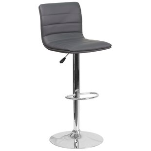 Orren Ellis Nolasco Adjustable Height Swivel Bar Stool
