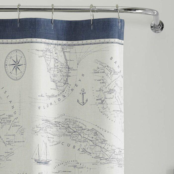 Tommy Bahama Home Caribbean Sea Cotton Single Shower Curtain Reviews