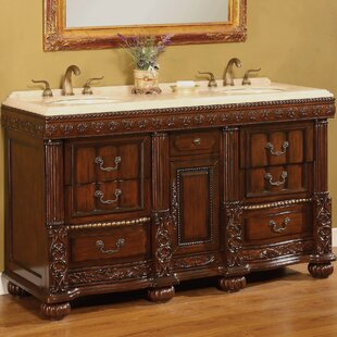 Kent 60 Double Bathroom Vanity Set by B&I Direct Imports