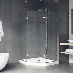 Shower 42.13 inch   Neo-Angle Hinged Shower enclosure with Base Included