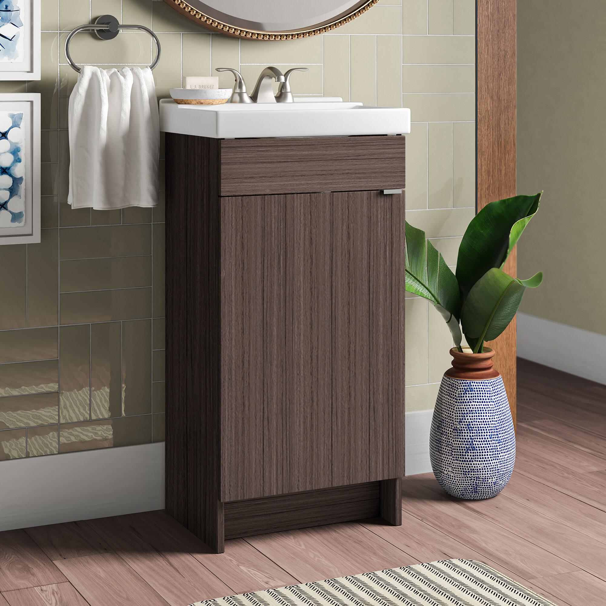 Orren Ellis Fraizer Teak 17 Single Bathroom Vanity Set Reviews