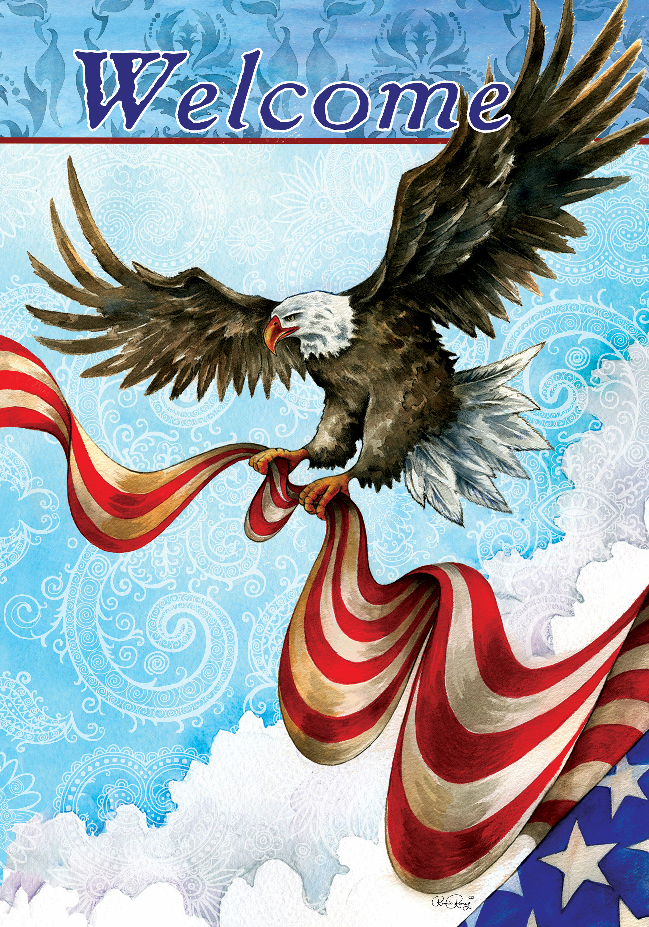 Custom Decor Patriotic Eagle 2 Sided Polyester 18 X 12 In Garden Flag Wayfair