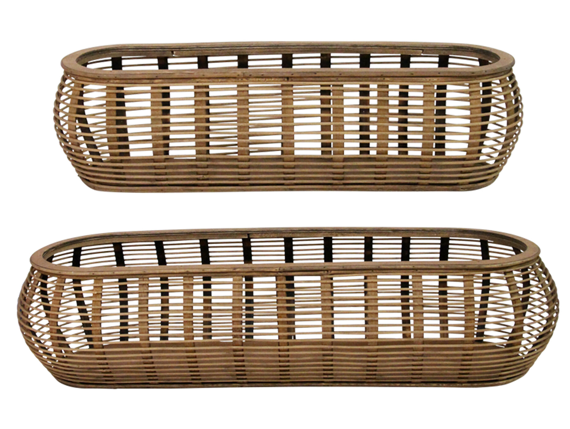 Bay Isle Home Tulum 2 Piece Solid Wood Basket Set Reviews Wayfair
