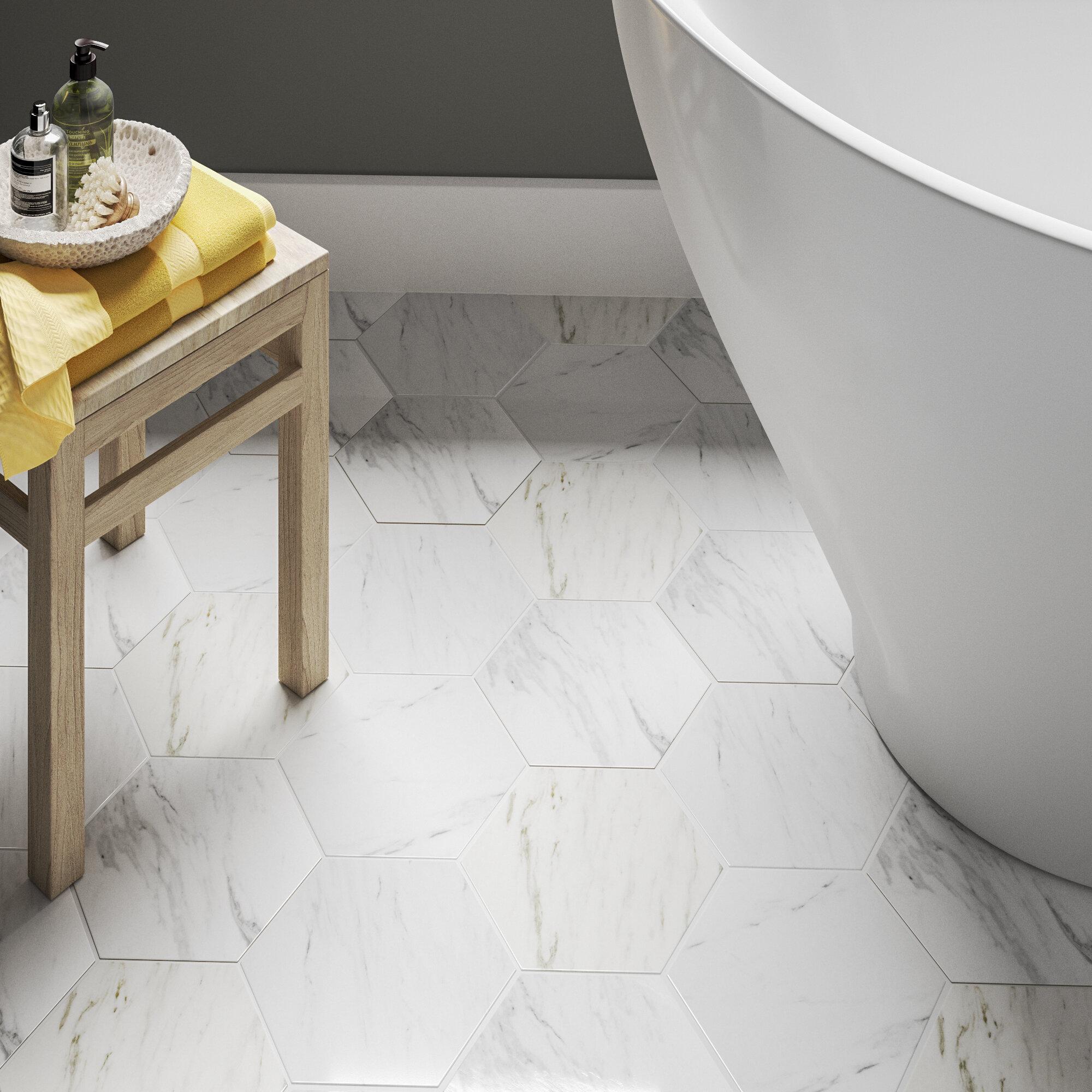 Elitetile Marbre 9 X 10 Porcelain Stone Look Wall Floor Tile Reviews Wayfair