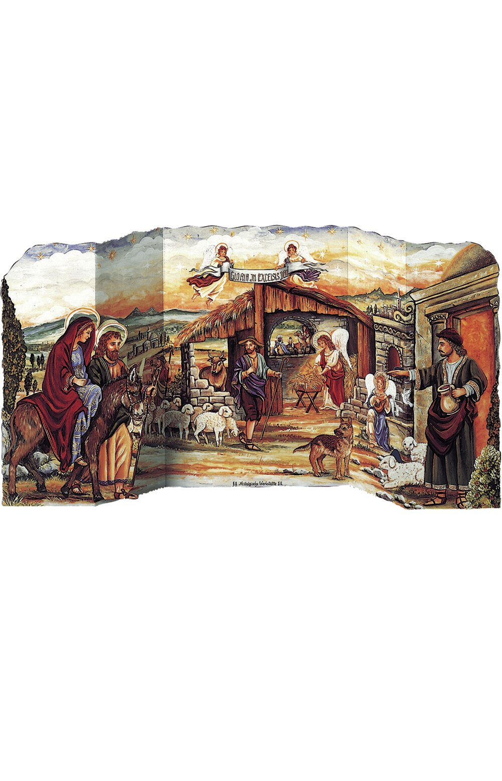 The Holiday Aisle Raci 3 Dimensional Nativity Scene Advent Calendar
