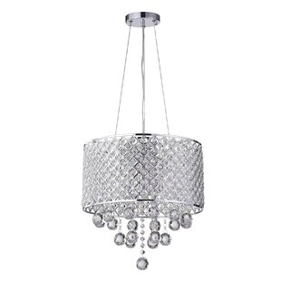 House of Hampton Ginnia 4-Light Crystal Chandelier