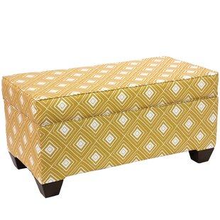 Brayden Studio Pabst Linen Upholstered Storage Bench