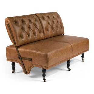 AlmedaCheatham Leather Loveseat by Canora..