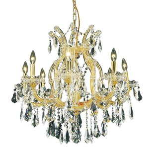 House of Hampton Regina 9-Light Royal Cut Candle Style Chandelier