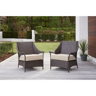 Ismay Outdoor Chair With Cushions (Set Of 2) by Greyleigh Cheap