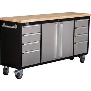 Rolling Rubberwood 72 W Bottom Rollaway Chest by Trinity
