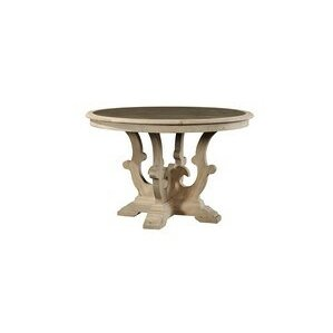 Scrolled Pedestal Zinc Top Dining Table by Furniture Classics LTD