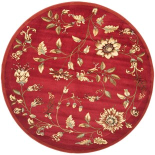 Taufner Power Loomed Red Area Rug by Astoria Grand