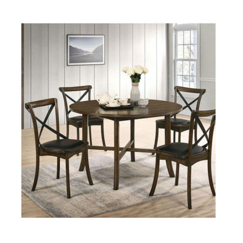 Gracie Oaks Torrence Placer 5 Piece Round Dining Set Wayfair