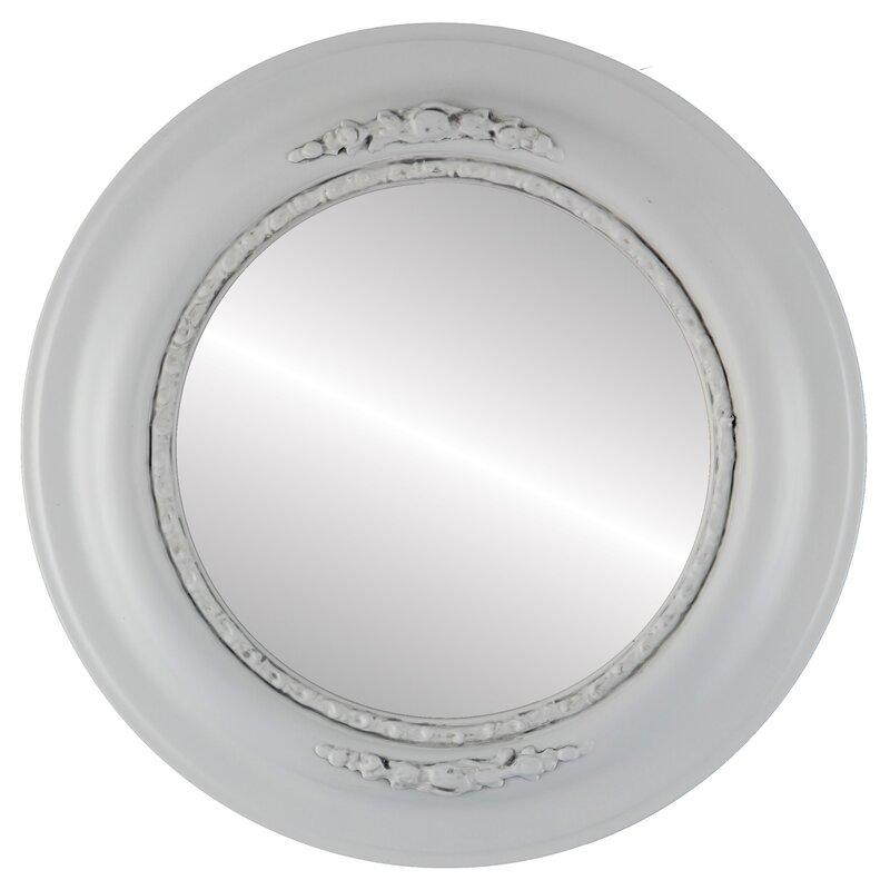 Charlton Home Wisbech Round Cottage Beveled Accent Mirror Wayfair