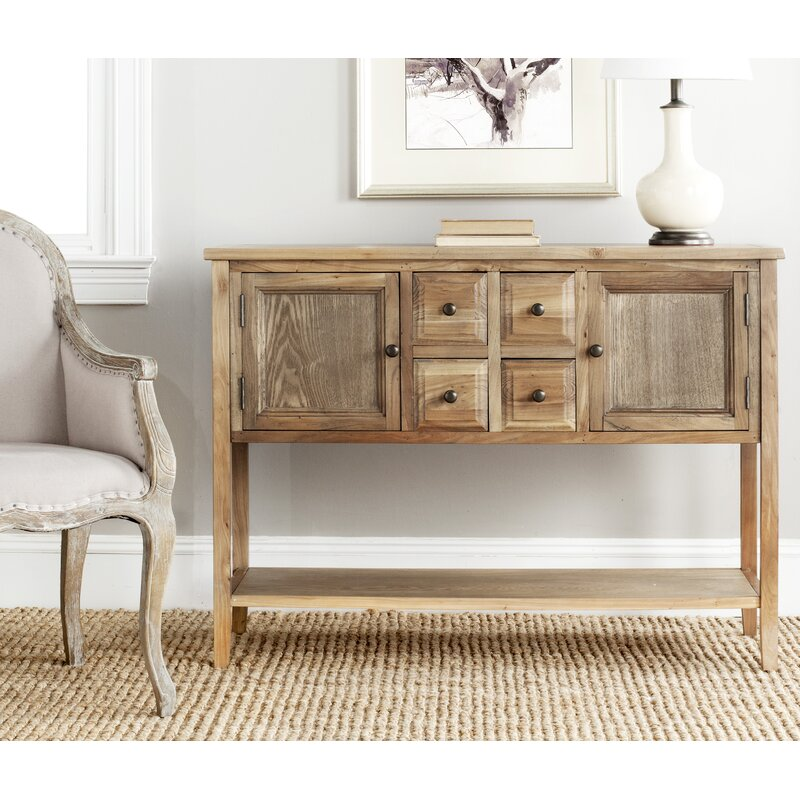 Lark Manor Sadie Rustic Console Table in Feminine Country Styled Home