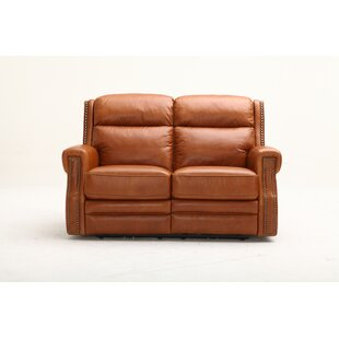 Maxwell Leather Reclining Loveseat by Sou..