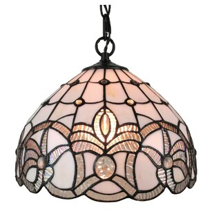 Amora Lighting Tiffany Style 1-Light Inverted Pendant