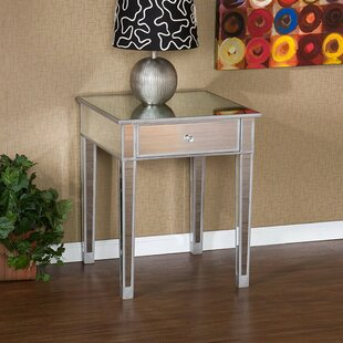 Luedtke Mirrored End Table