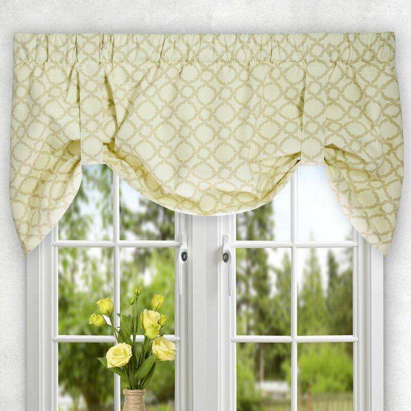 tie up window valance rod pocket kent crossing tie up valance ellis curtain reviews wayfair