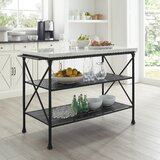Dorcia Kitchen Island with Manufactured Wood Top by Gracie Oaks