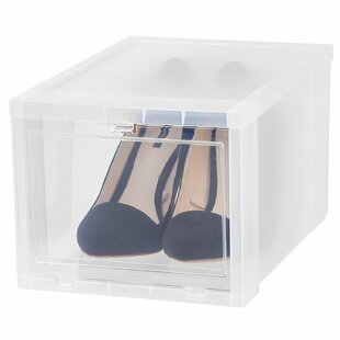 Drop Front Shoe Storage Box By Symple Stuff